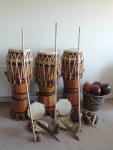 Capoeira instruments - Atabaque(s), Berimbau(s) - gunga, medio, viola, Pandeiro(s), Agogô