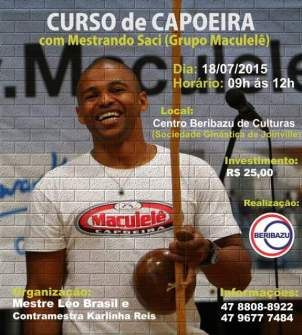 Mestre Saci Capoeira Workshop in Joinville