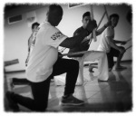 Mestre Saci teaching maculele (Londrina, Brazil)